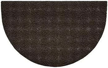 Nicoman Embossed Halfmoon Half Circle Door Mat Dirt-Trapper Jet-Washable Doormat 70x44cm (Brown, Plain) - Use Indoor or Sh...