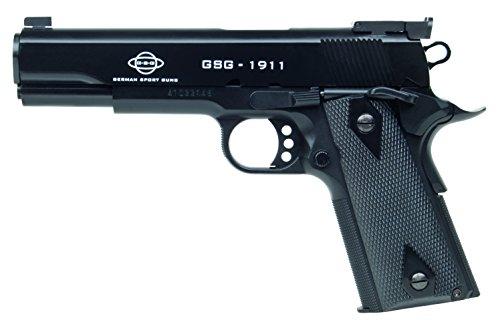 GSG Softair Pistole 1911 Kaliber Federdruck, Schwarz, 6 mm, 204656