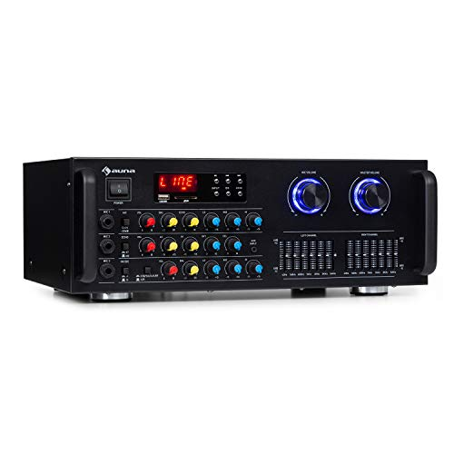 auna Pro Amp-Pro1 BT Amplificador de PA – 2 x50 W de...