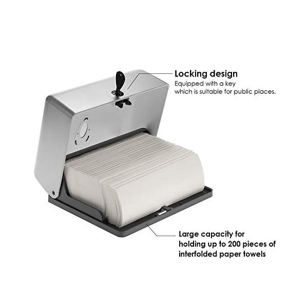 Blusea Dispensador de Papel Dispensador de Toallas CHUANGDIAN Formato zig-Zag