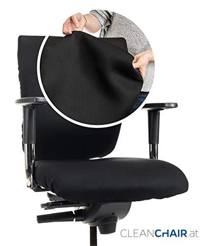 CLEANCHAIR Premium - Funda para silla de oficina para respaldo - GRANDE - Funda de silla de oficina con respaldo de aprox. 40 - 65 cm de ancho y 50-70 cm de altura