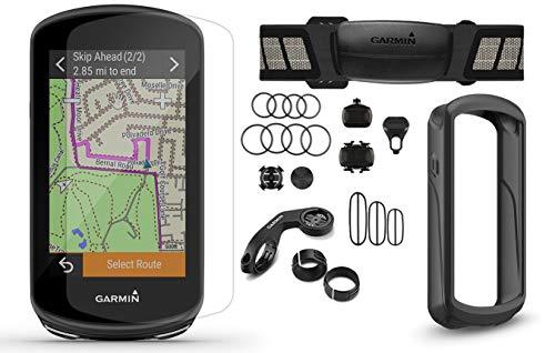Garmin Edge 1030 Plus (2020 Model) Cycle Bundle | with Chest HRM, Speed/Cadence Sensors, PlayBetter Silicone Case & Screen Protectors | 010-02424-01 | GPS Bike Computer (Sensor Bundle, Black Case)