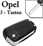 Carcasa para llave de Opel con mando a distancia, plegable, 3 botones, KS02, Astra H, Corsa D, Meriva, Signum, Vectra C, Zafira B