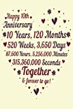 10 Years Of Marriage/happy anniversary: 10th Wedding Anniversary Celebrating, Marriage Anniversary Notebook Journal, Married for 10 Years Wedding duo diary, Sweet Memories Notebook Card Alternative