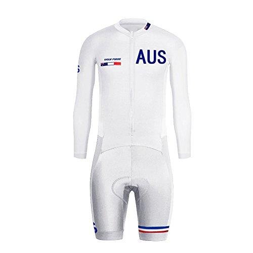 Uglyfrog Skinsuit Maillot Ciclismo Uomini Autunno/Estate A Maniche Lunghe Ciclismo Body All'aperto Aderente Sport Abbigliamento Triathlon Asciugatura Veloce LTFX02