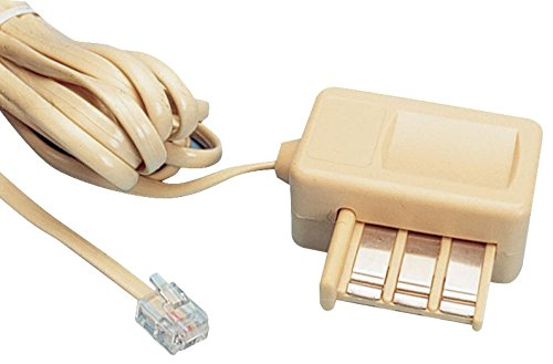 Waytex 39360 Câble téléphone RJ11/Gigogne Mâle/Femelle 3 m Beige