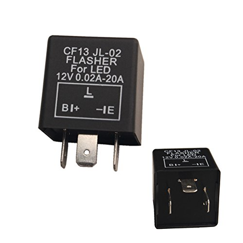 Dewhel 1 pc CF-13 CF13 EP34 3 Pin Electronic Flasher Fix 12V 0.02A-20A For LED...