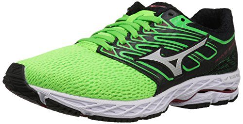 Mizuno Running Men's Mizuno Wave Shadow Running-Shoes,green slime/white,8 D US