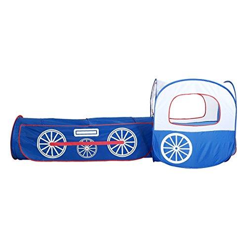 XinQing-Tienda Tienda de Juegos para niños Túnel de Tren Azul Piscina de Bolas Marinas Juego de Piezas de Dos Piezas Paquete Mongol Desmontable (230 * 80 * 46 cm Embalaje de 1)