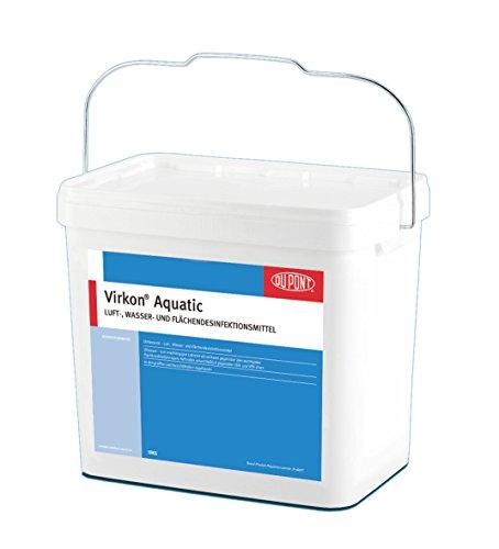 Virkon Aquatic Desinfektionsmittel tötet Keime, Bakterien, Pilze im Teich und Aquarium, Starkes, viruzides, bakterizides, fungizides Desinfektionsmittel mit patentierter Wirkstoffformel 5kg Eimer