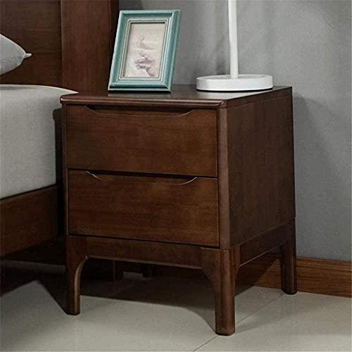 Wddwarmhome Nachttisch Nachttisch Holz 2 Kommode Kabinett Lagerständer Nachttelefon Tischständer Seitentabelle (Color : Walnut, Size : 42x40x50CM)