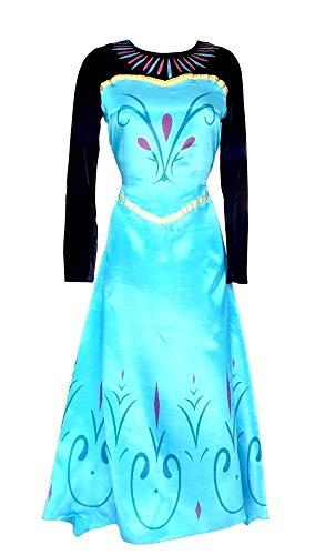 Legisdream Carnival Vestido Modelo Elsa coronación del Traje de la Princesa del Hielo del Nuevo Cine Cine para Adultos Mujer de la Idea de Vestir Chica Cosplay Tamaño M