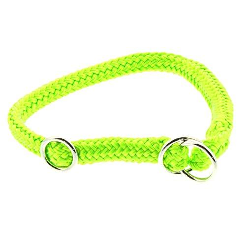 Dinoleine Hunde-Halsband/Stoppwürger, Größenverstellbar, Polyester, Größe: XXS/ 30 cm, Neongrün, 290804
