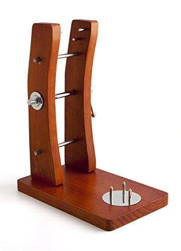 Quid AROCHE Jamonero con Soporte de Madera, Sistema de Prensa, Marron, 42 x 33 x 21 cm