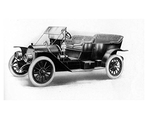 1911 Mercer Model 30 C Touring Car Automobile Factory Photo