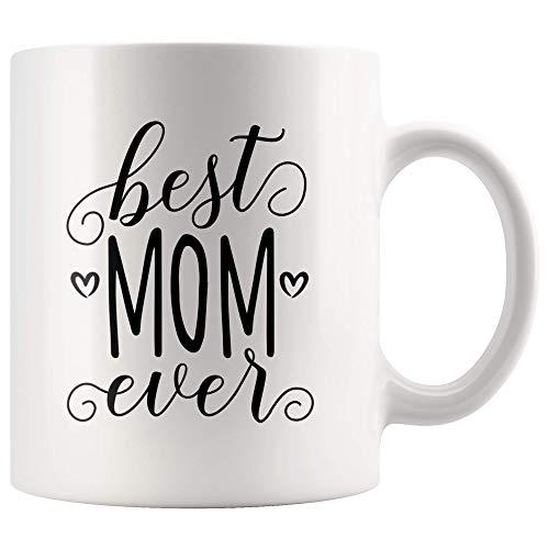 N\A Taza de la Mejor mamá para mamá, Taza de café de Regalo para mamá, Taza de té del día de la Madre de la Mejor mamá del Mundo