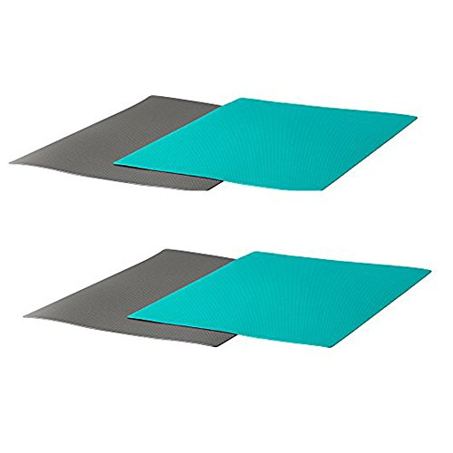 IKEA FINFORDELA Flexible chopping board, Dark gray, Dark Turquoise(Pack of 4)
