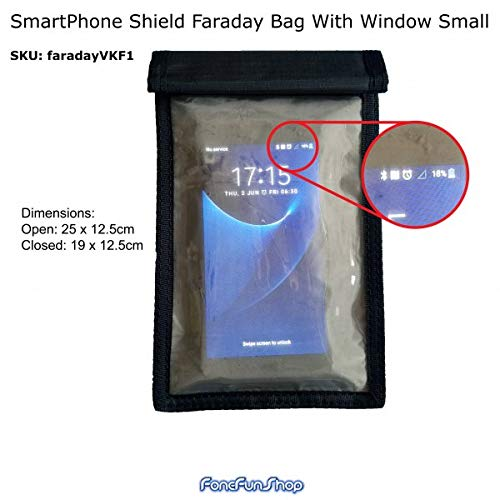 40 x 36 cm Borsa per laptop Faraday con finestra