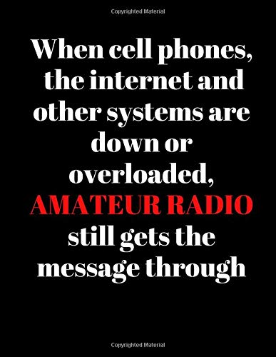 When cell phones, the internet and other systems are down or overloaded, Amateur radio still gets the message through: Ham Radio Amateur Operator ... to Keep track Of the details of your contacts