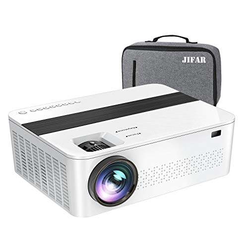 JIFAR Native 1920x 1080P Projector,7500 Lumens HD Projector with 400'Display,Projector for outdoor movies Support 4K Dolby & Zoom, Compatible with TV Stick,HDMI,VGA.USB,Smartphone,PC