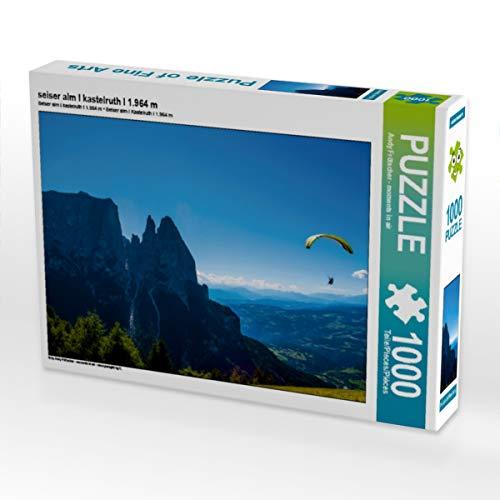 CALVENDO Puzzle seiser ALM I kastelruth I 1.964 m 1000 Teile Lege-Größe 64 x 48 cm Foto-Puzzle Bild von Moments in air