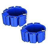 SALUTUYA Pulsera con Soporte de Peso para Yoga Pulsera con Soporte de Peso Deportivo Durable Azul Oscuro Azul Claro, para Mujer(Navy Blue)