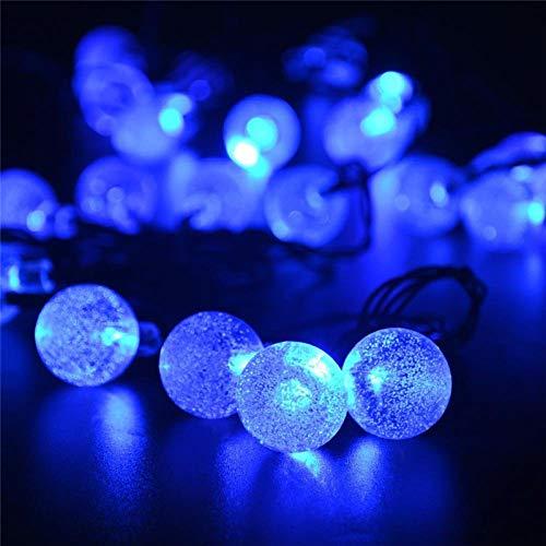 30 led stringa sfera di cristallo ad energia solare lederTEK marca le luci delle fate del globo più popolari per la decorazione natalizia del giardino esterno-blu