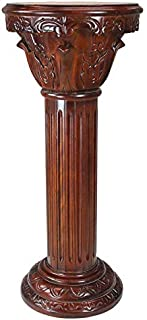 Design Toscano AE1180 Imperial Pedestal Column Plant Stand, Large, 36 Inch, Cherry