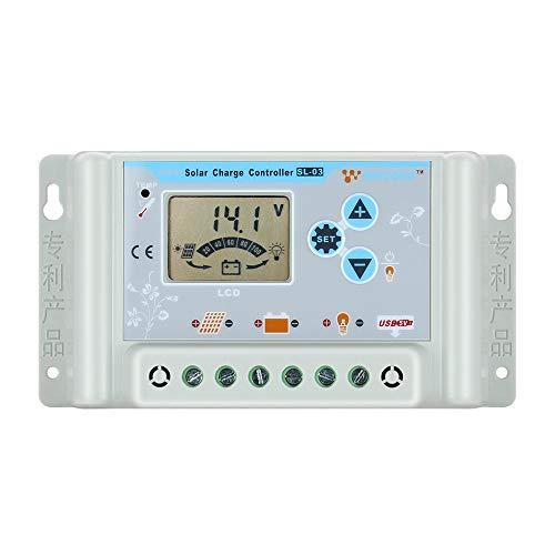 Temank 30A Solarladeregler 12V/24V/36V/48V Mit USB Anschluss