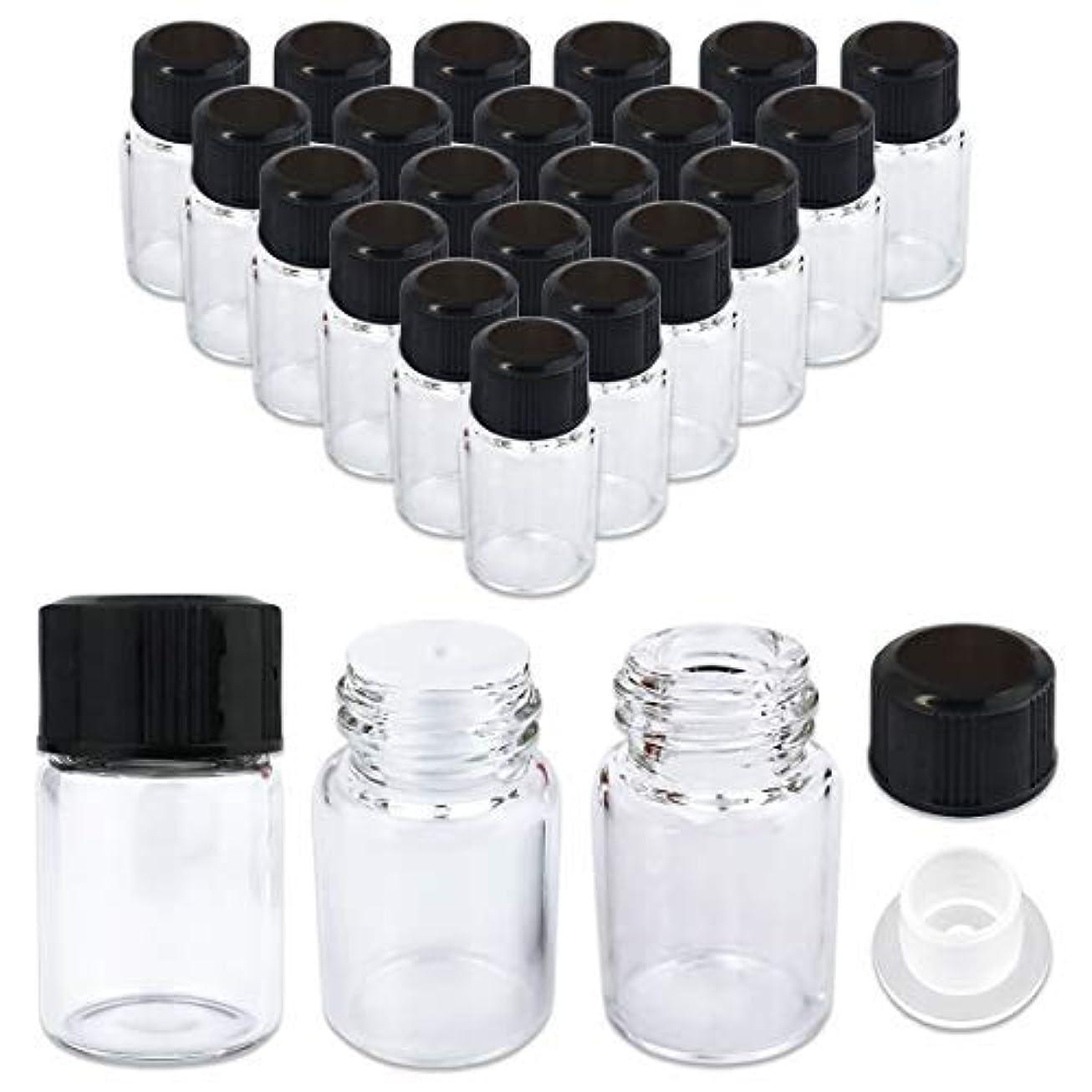 自動車顔料の量24 Packs Beauticom 2ML Clear Glass Vial for Essential Oils, Aromatherapy, Fragrance, Serums, Spritzes, with Orifice Reducer and Dropper Top [並行輸入品]