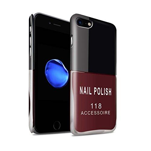Gloss telefoonhoesje voor Apple iPhone SE 2020 nagellak/make-up rood ontwerp glanzend ultra slank dun hard snapcover