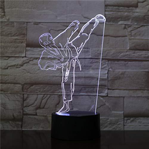 Karate artes marciales 3D Illusion Lamp