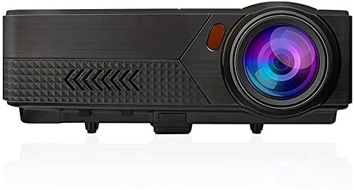 ZXNRTU Impresionante calidad de imagen Proyectores proyector de película de HD 4K Inicio portátil de pequeño tamaño, moldeada 1080P 3D de cine en casa Oficina proyector, 30000 Horas Fuente de Luz, 800