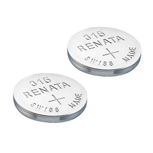 RENATA Batteria per orologio da polso 315 (SR716SW), realizzata in Svizzera, batteria all'ossido di argento, priva di mercurio, 1,55V, lunga durata, 2 Pezzi