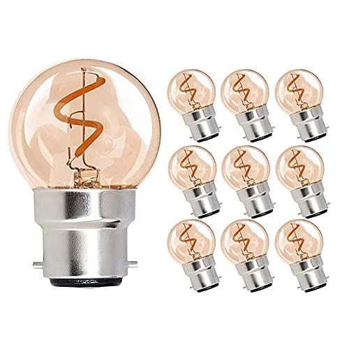 Bombilla LED Tawny G40 Retro luz Amarilla cálida Baja presión Ahorro de energía Larga Vida lámpara Transparente Tornillo B22 ángulo de Haz Redondo Ahorro de energía sin Parpadeo fácil de reemplazar