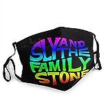 Sly And The Family Stone - Protector facial reutilizable para la oreja, universal, ajustable, protector bucal, unisex, elegante, decoración facial, bufanda facial al aire libre a prueba de viento