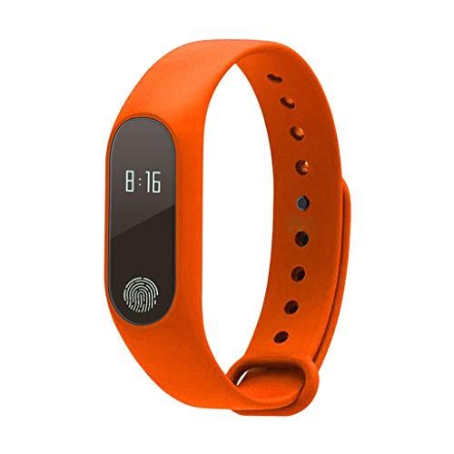 MagiDeal M2 Bluetooth Smart Watch Rastreador de Monitor de Frecuencia Cardíaca Y Presión Arterial - Naranja
