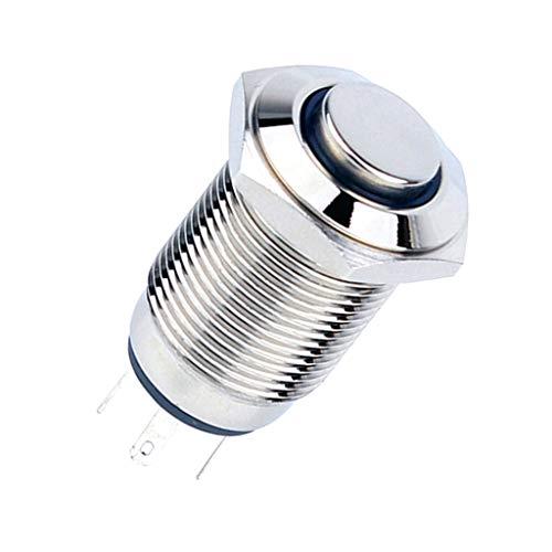 Sharplace 16mm 12v Imperméable à Eau LED Indicateurs en Métal Signal Lampe Pied De Soudure - #2