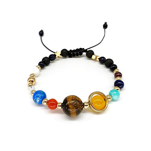 DASHUAIGE Armband 9 Planeten Pluto Universum Armreifen & Amp;Armbänder Modeschmuck Galaxy Solar System Armband Für Frauen Oder Männer