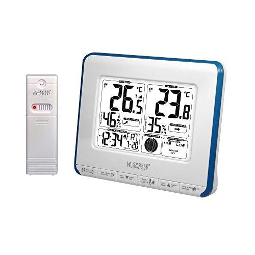 La Crosse Technology WS6812WHI-BLU - Estación meteorológica (Temperatura Interior/Temperatura Exterior), Color Azul y Blanco