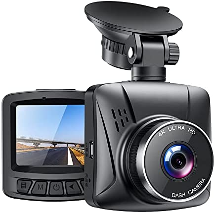 4K Dash Cam for Cars with GPS, 2″ LCD UHD 2160P Car Camera Vehicle Driving Recorder,170° Wide Angle Dash Cam Front with G-Sensor WDR Loop Recording White Balance Travelapse