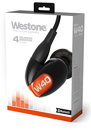 Westone W40 with Bluetooth Cable Four-Driver True-Fit Earphones with High Definition Silver MMCX Cable