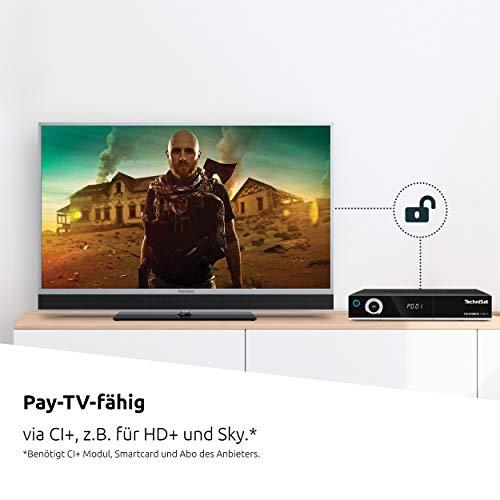 TechniSat TECHNIBOX UHD S - 4K Sat Receiver mit Twin Tuner (DVB-S/DVB-S2, Alexa Sprachsteuerung, Smart TV, App Steuerung, PVR Aufnahmefunktion, WLAN, LAN, CI+, USB 3.0) schwarz
