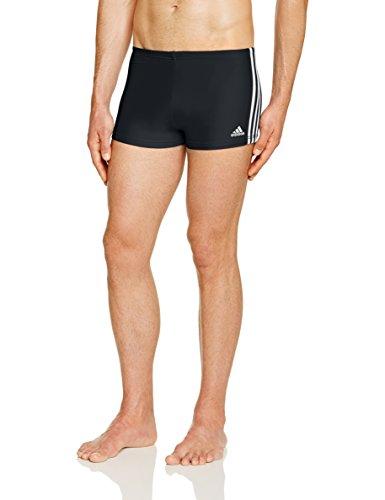 adidas Infinitex–Boxer da Uomo, Uomo, Infinitex 3-Stripes, Nero/Bianco, Misura 4