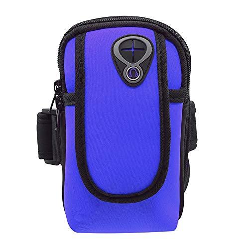 Belleashy - Pulsera de fitness para hacer ejercicio, fitness, buceo, material multifunción, para teléfono móvil, bolso de muñeca, color azul