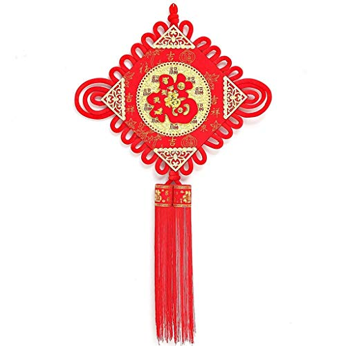 YXDEW Tassel/Tassel Pendant Blessing Festival Festive Home Decoration Pendant Wealth Auspicious Style Door TV Wall Screen Porch Living Room Decoration Pendant Red Luck honored (Size : 4PACK)