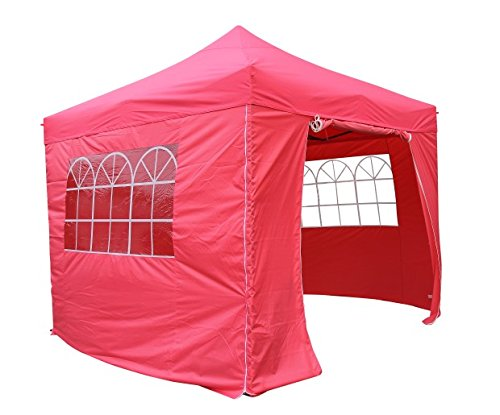 All Seasons Gazebos 3x3m Waterproof Pop Up Gazebo - Pink (Standard Sides)