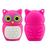 Flash Drive 16GB Memory Stick Pen Drive USB2.0 Cute Cartoon Miniature Pink Owl Animal Shape Thumb Drives for Date Storage Gift for School Students Kids Children Teacher Collegue Employees