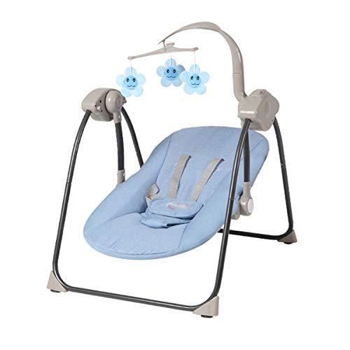 BYCDD Electrico Hamacas Para Bebé, Espalda Ajustable 3 movimientos únicos PortáTil Multifuncional...