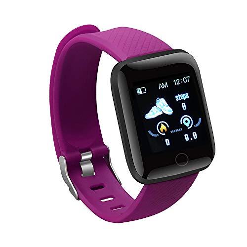 ZIXING Pulseira inteligente rastreador de atividades, tela colorida de 1,44 polegadas IP67, à prova d'água, ritmo cardíaco, monitoramento de pressão arterial, saudável para homens e mulheres